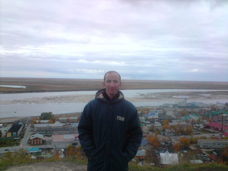 Irtysh River is in the background